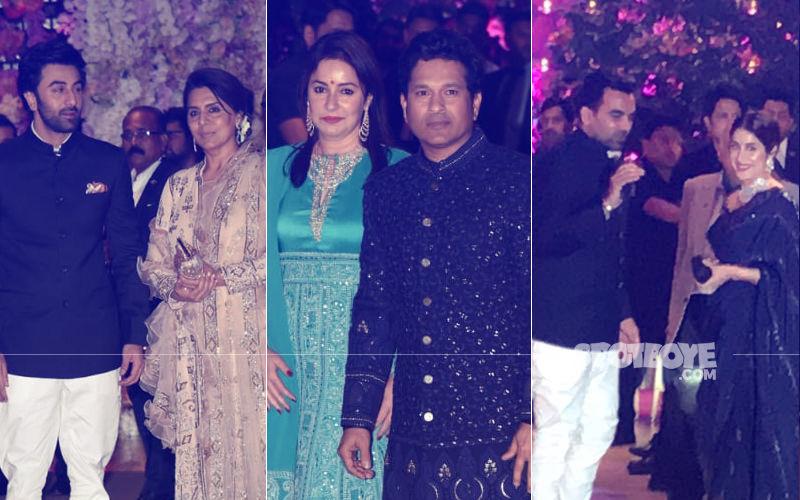 Ambani Engagement Party: Ranbir-Neetu, Sachin-Anjali, Zaheer-Sagarika Make A Grand Entry