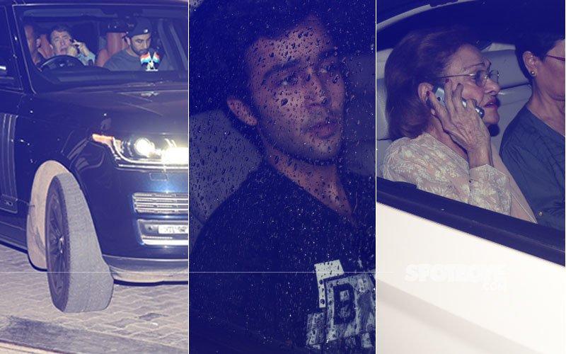 RIP Shashi Kapoor: Ranbir, Randhir, Kunal & Krishna Raj At Ambani Hospital