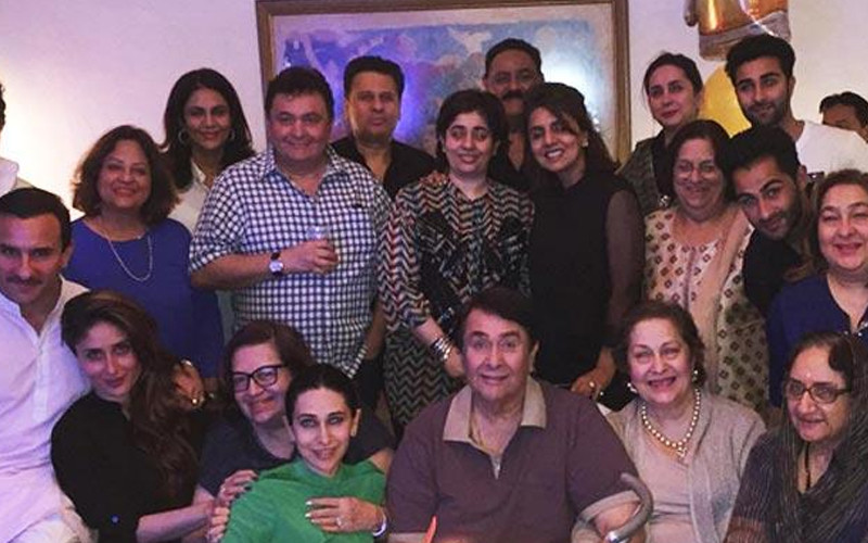 Randhir Kapoor Pic With His Family