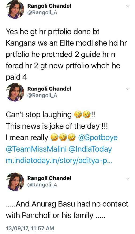 rangoli chandel war with zarina wahab and aditya pancholi