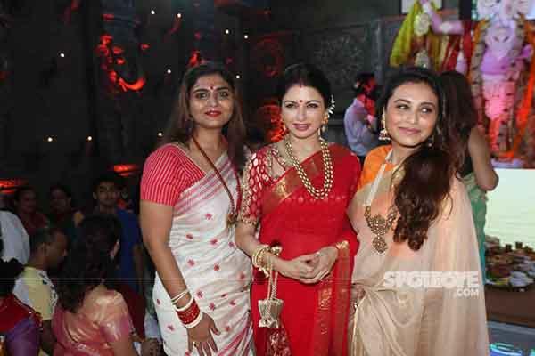 rani mukerji and bhagyeshree at the celebrations