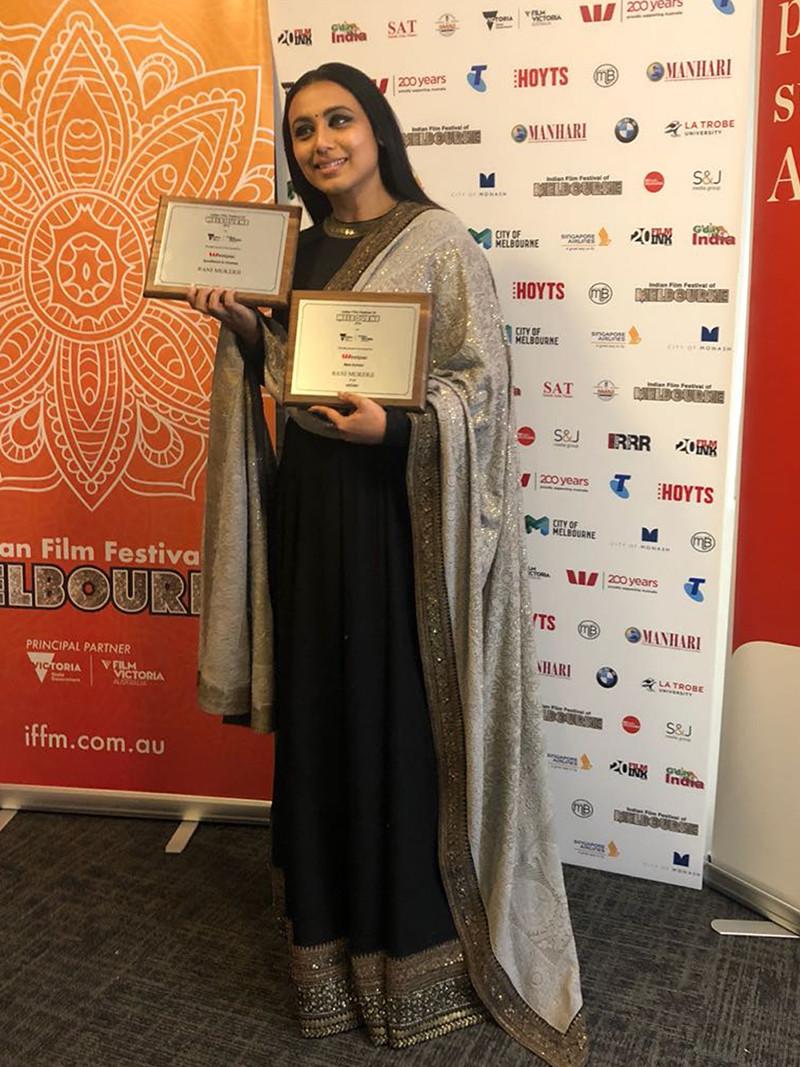 rani mukerji poses with her awards