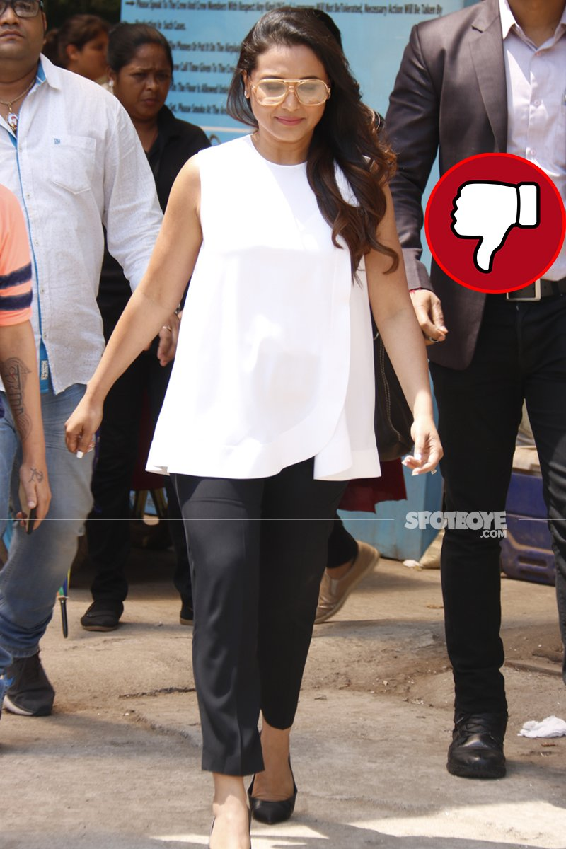 rani mukerji snapped post shoot