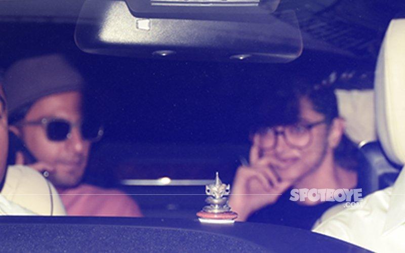Deepika Padukone & Ranveer Singh Catch Up With Karan Johar