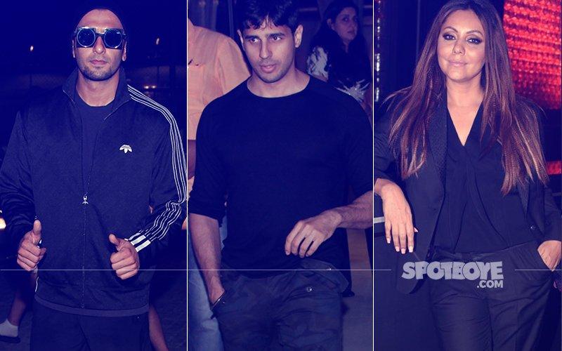 Here's How Ranveer Singh, Sidharth Malhotra & Gauri Khan Enjoyed Their Friday Night...