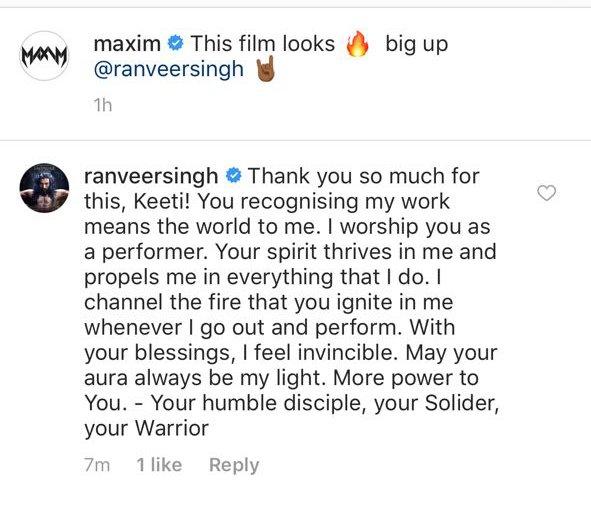 ranveer singh and singer maxim conversation
