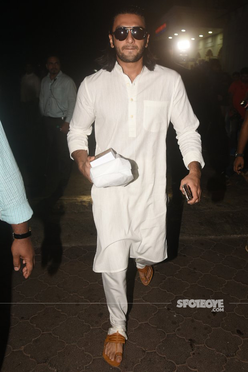ranveer singh at ram mukerji prayer meet