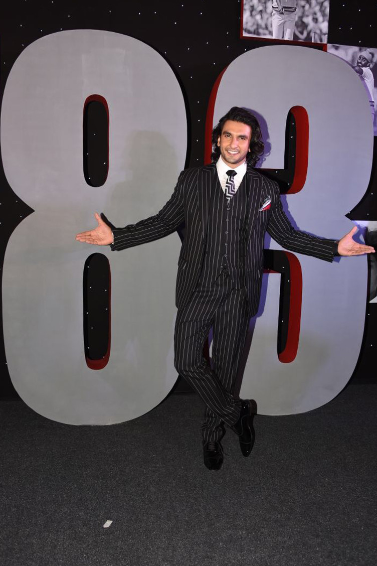 ranveer singh at the launch of 83 world cup movie