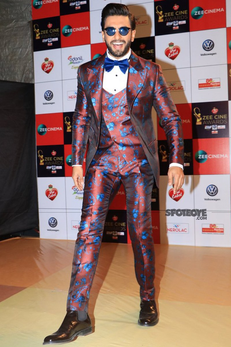 ranveer singh at zee cine awards