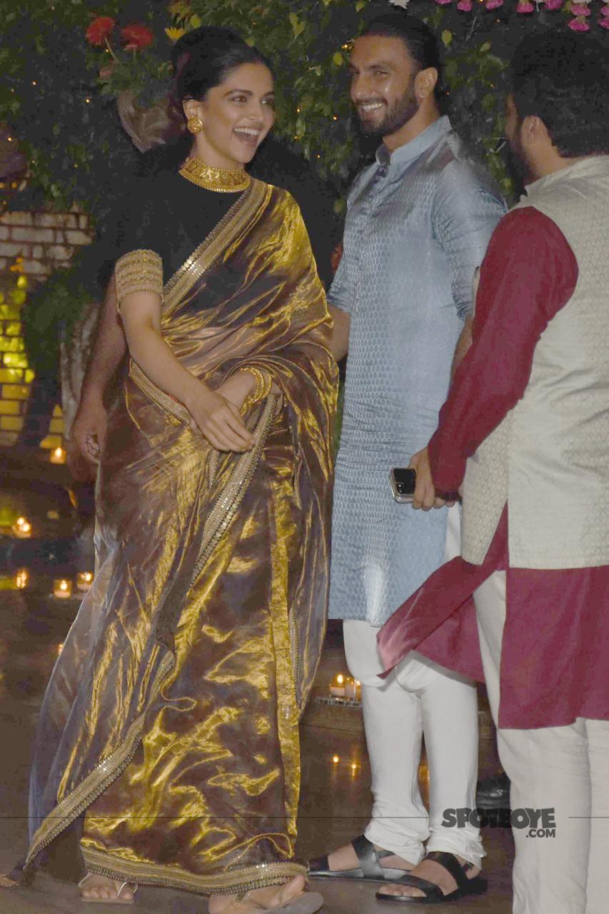 ranveer singh deepika padukone at ambani ganpati celebration