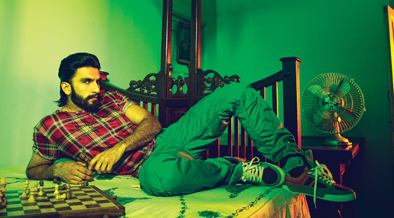 ranveer singh poses for a photoshoot