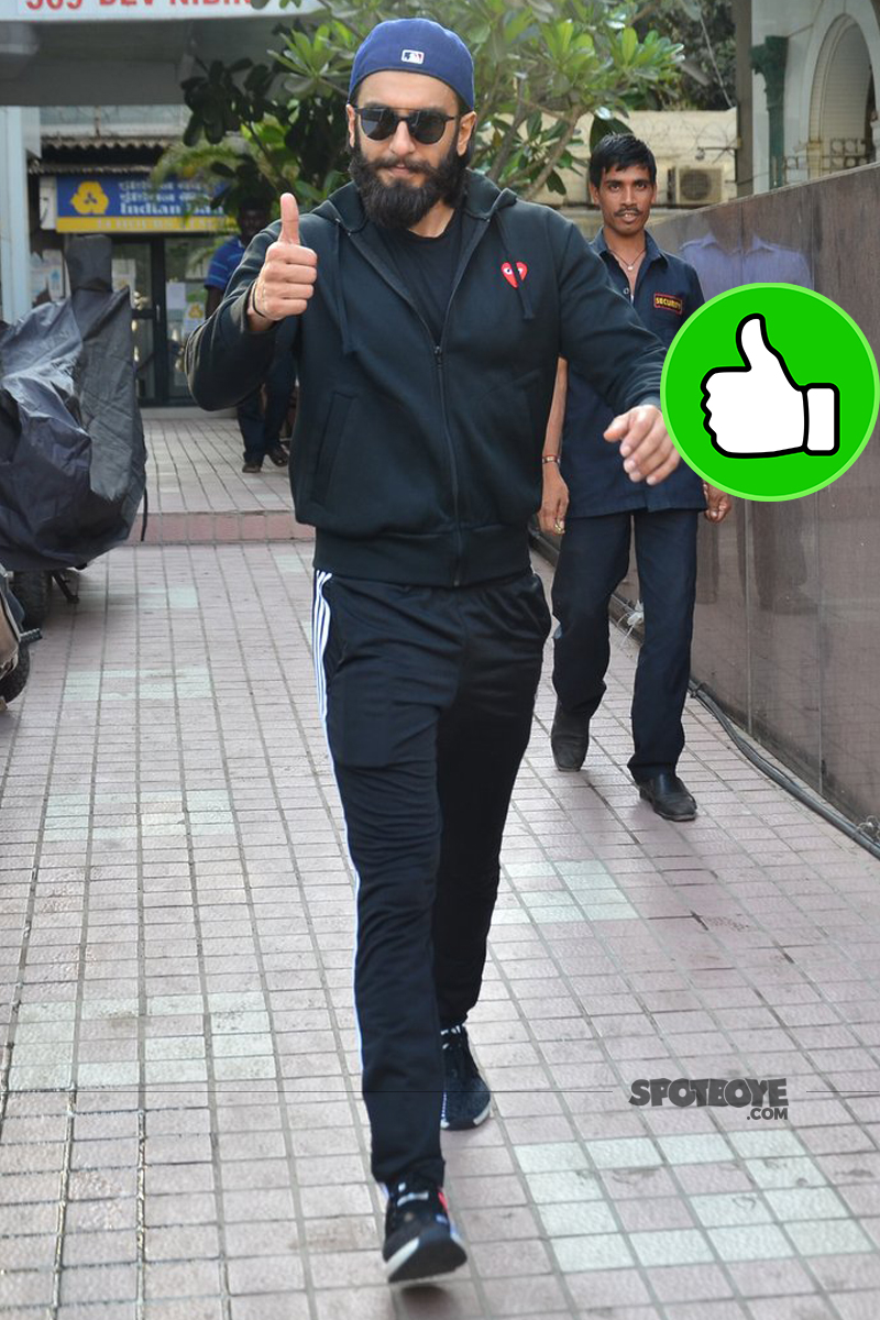 ranveer singh snapped post gyming session