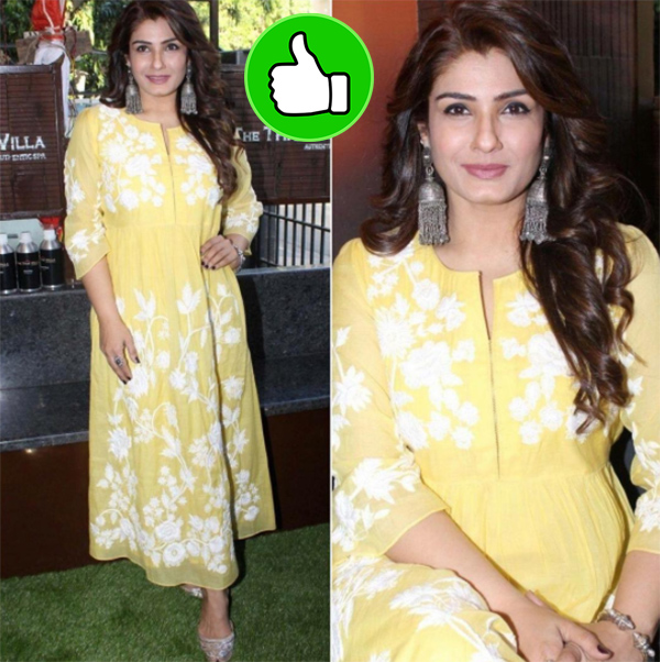 raveena tandon at the thai villa
