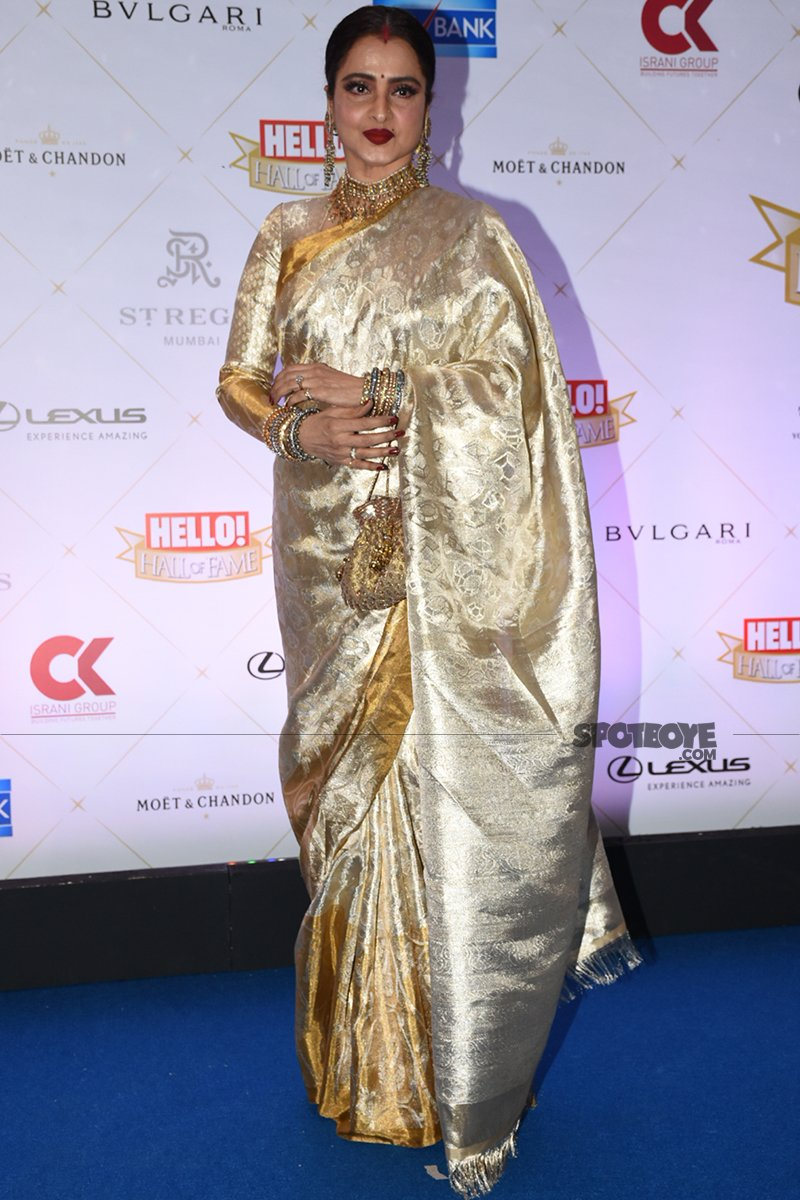 rekha at at hello hall of fame awards