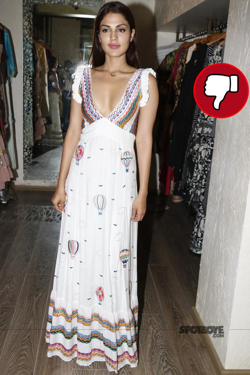 rhea chakraborty at a store launch