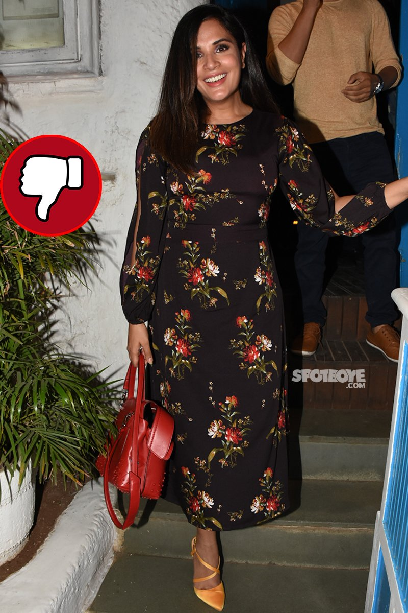 richa chaddha snapped post dinner