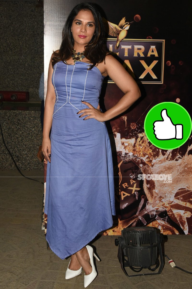 richa chadha spotted at a screening