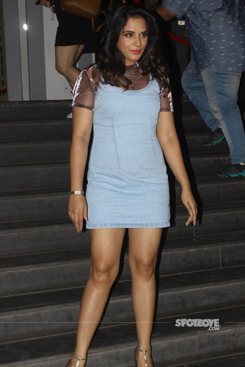 richa chadha spotted at the screening