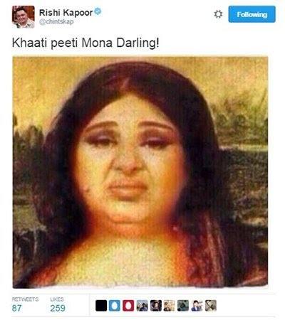 rishi kapoor tweet about fat monalisa