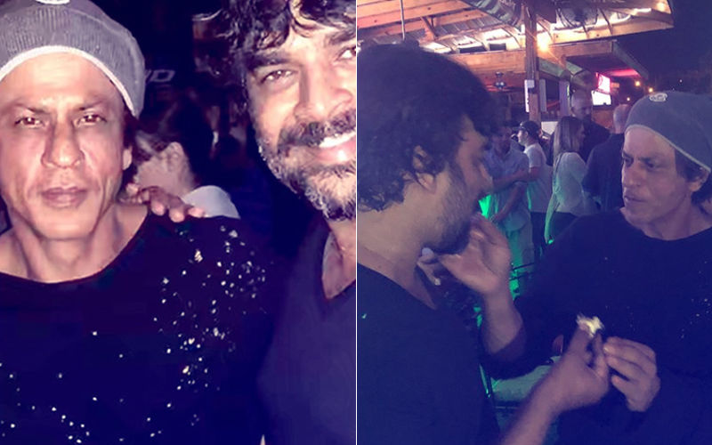 On The Sets Of Zero: R Madhavan Celebrates Birthday With Shah Rukh Khan