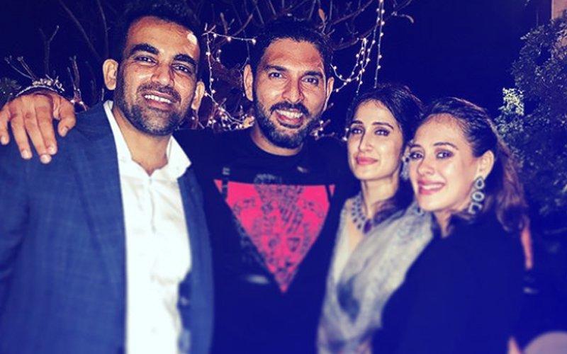 INSIDE PICS: Newly Weds Zaheer Khan & Sagarika Ghatge Throw A Glitzy Bash For Friends