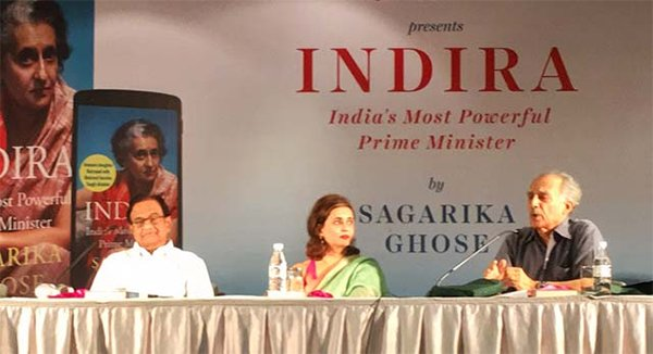 sagarikas book launched by congress minister p chidambaram