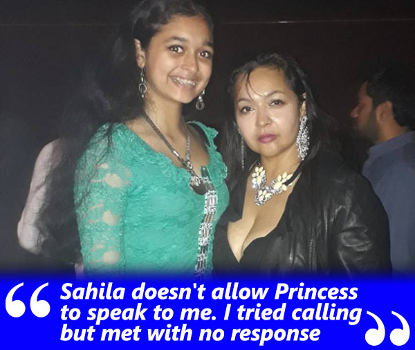 sahila chadha and princess during a party