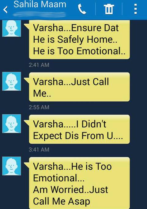 sahila chadha varsha bhagwani conversation messages