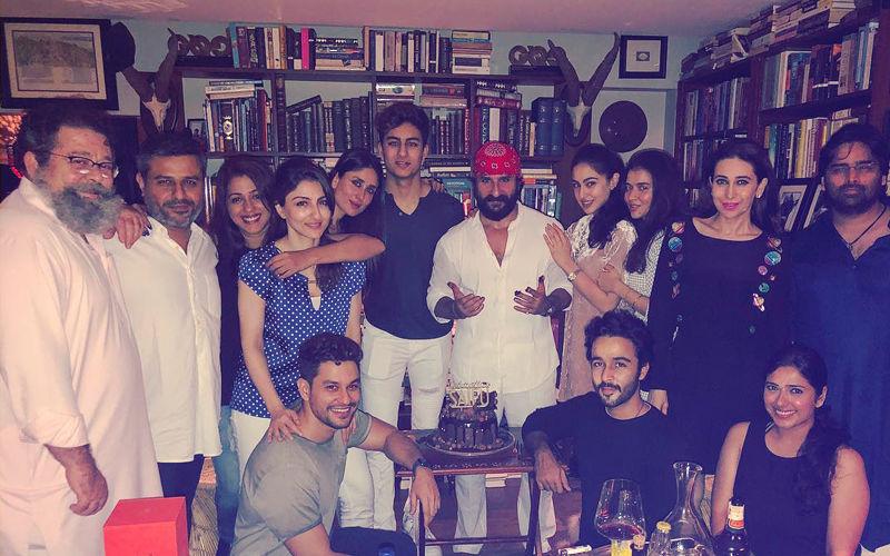 Saif Ali Khan Birthday: Kareena-Karisma Kapoor, Sara-Soha Ali Khan Celebrate Midnight Bash
