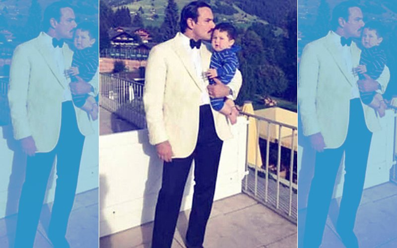 Saif Ali Khan Poses With Baby Taimur In Switzerland