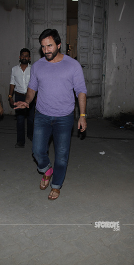 saif ali khan snapped at chefs promotion