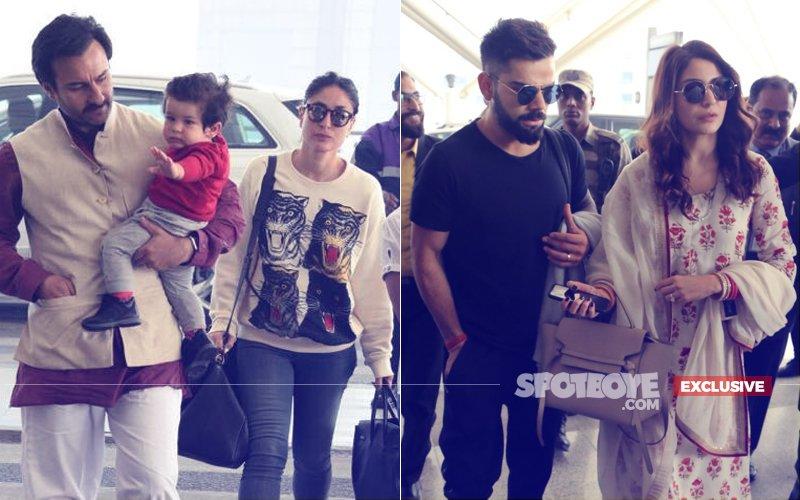 JUST IN: Taimur Is Travelling Mid-Air With Anushka Sharma & Virat Kohli