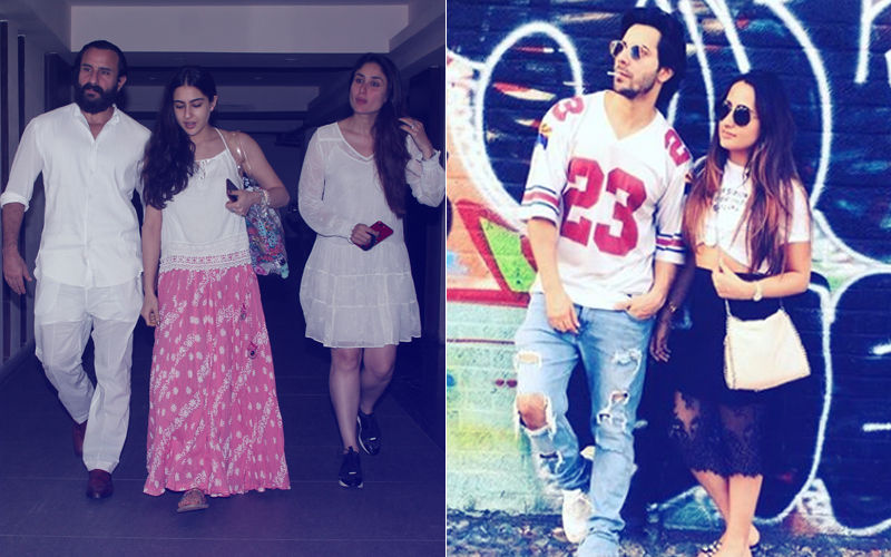 Clicks Of The Day: Kareena, Sara, Saif Visit Soha's House, Varun Shares Picture With Natasha