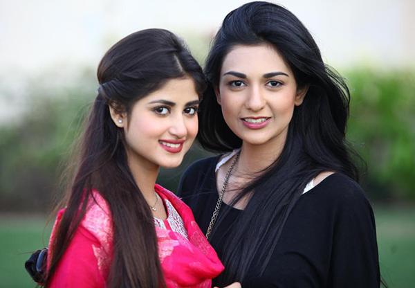 sajal ali with sister saboor ali