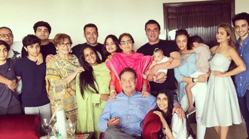 salim khan with family