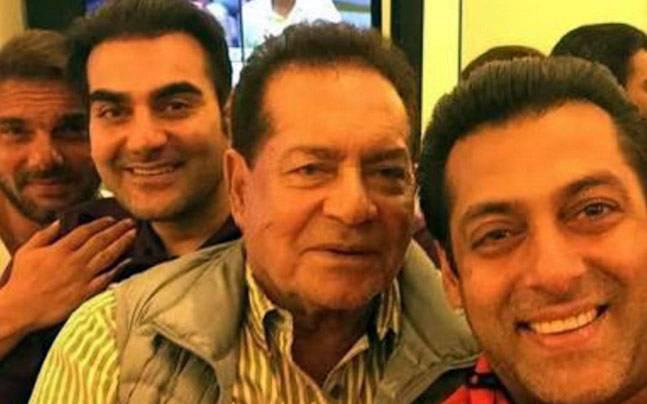 salim khan with salman khan arbaaz khan and sohail khan