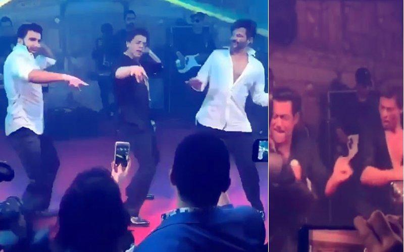 देखिए सोनम कपूर के रिसेप्शन में सलमान, शाहरुख, रणवीर, अर्जुन संग मिलकर नाचते अनिल कपूर कई सारे वीडियोज