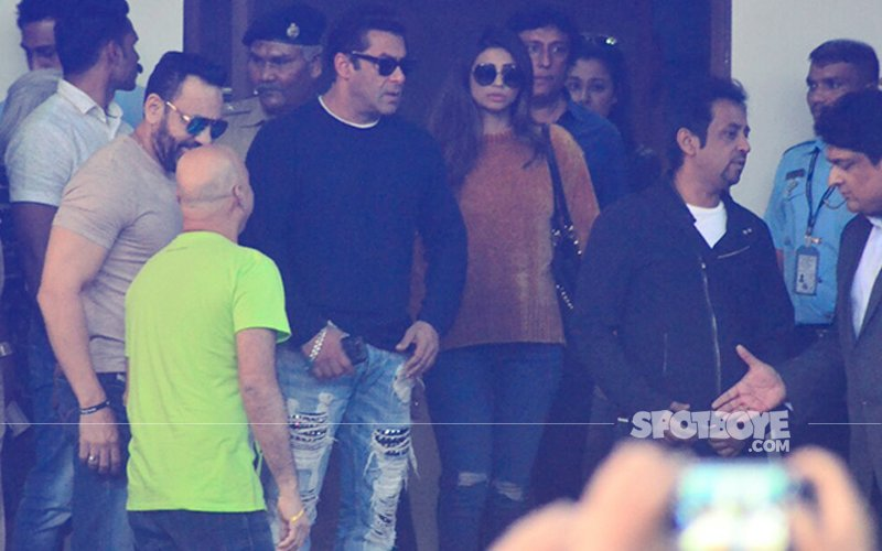 Salman Khan & Daisy Shah Return To Mumbai After Wrapping Up Da-bangg Tour In Delhi