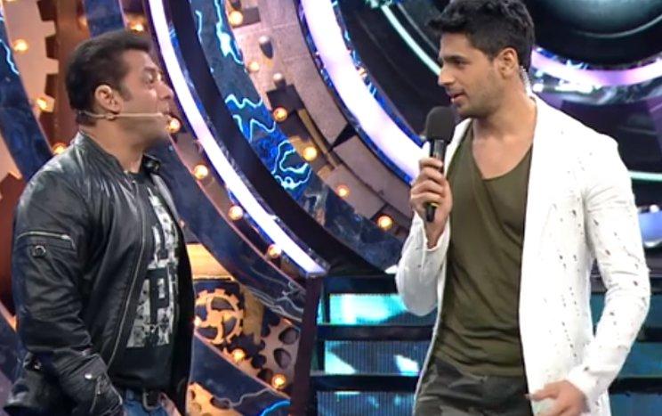 salman khan and sidharth malhotra on bigg boss 11