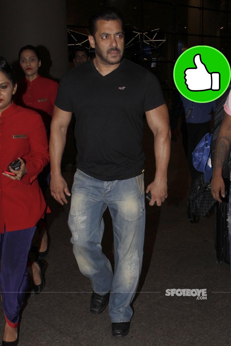 salman khan at the airport