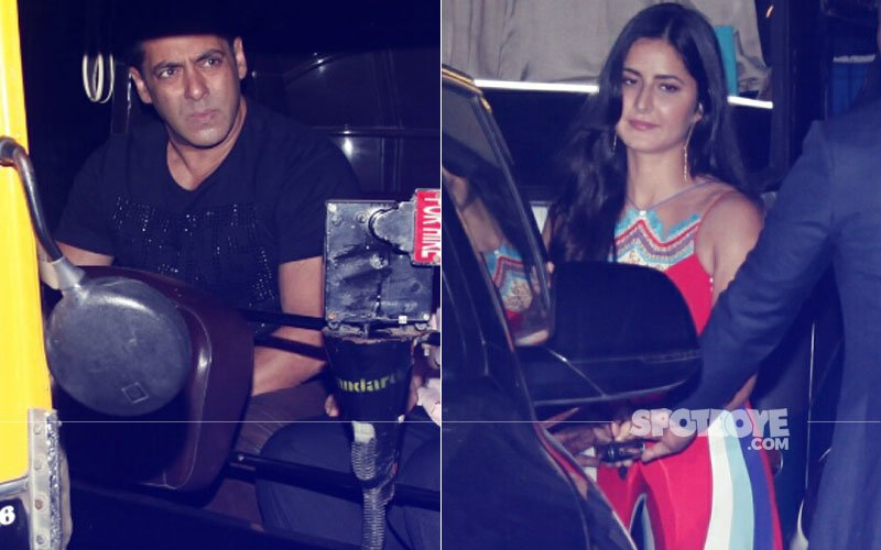Salman Khan Drops Katrina Kaif To Her Car & Takes A Rickshaw Ride Back Home