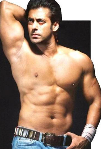 salman khan shows off his abs