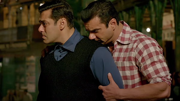 salman khan with bro sohail khan in tubelight