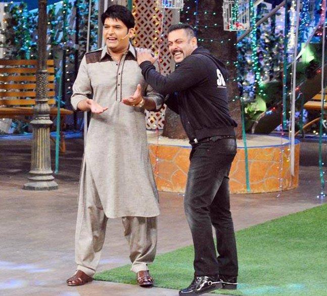 salman khan with kapil sharma on the kapil sharma show