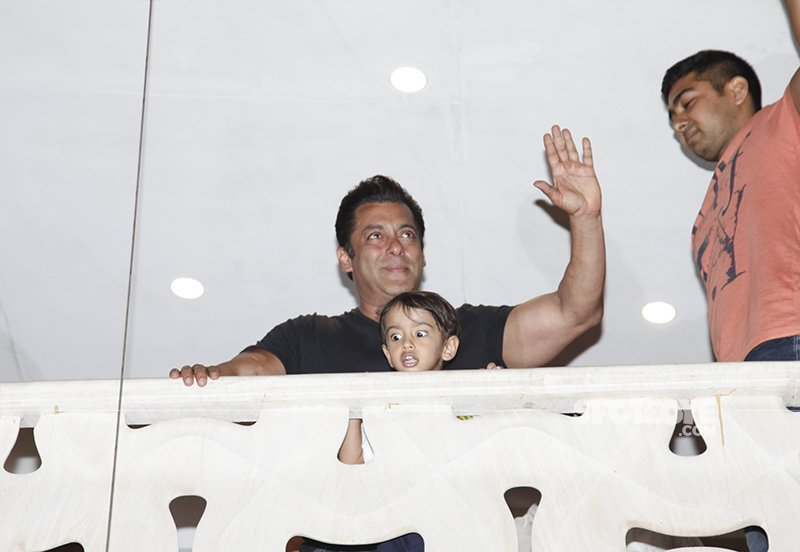 Salman Khan At Galaxy Apartment