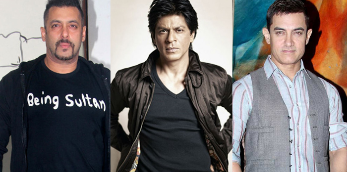 bollywood 3 khans -salman shahrukh and aamir khan