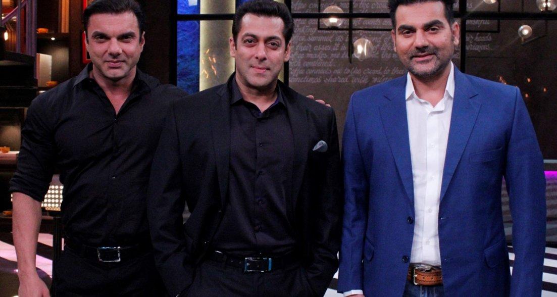 salman with brothers sohail and arbaaz khan