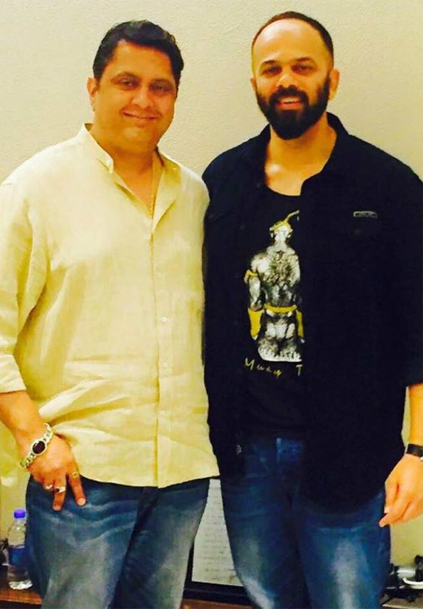 sanjay b jumaani with rohit shetty