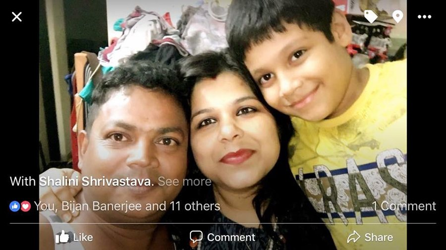 sanjay bairagi with wife and son