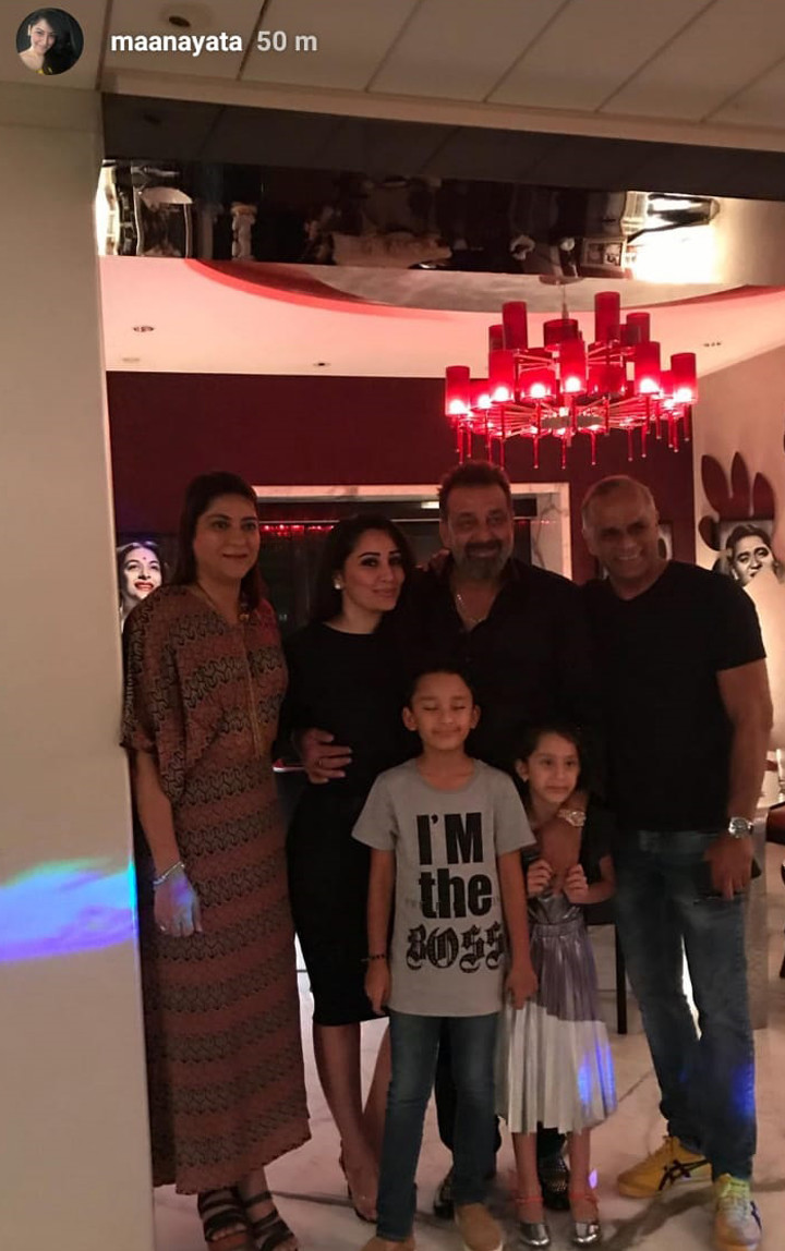 sanjay dutt celebrates his birthday with friends and family